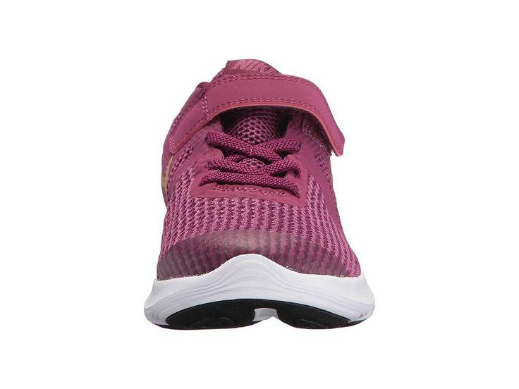 Nike Kids Revolution 4 (Little Kid) Girls Shoes Tea Berry/Metallic Gold/Bordeaux/White #GirlsShoes