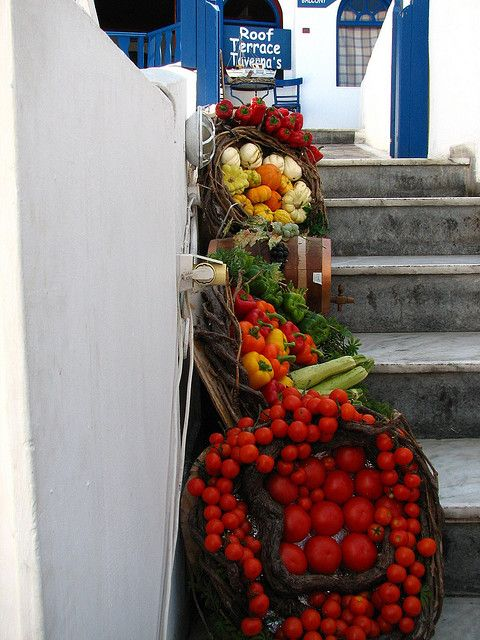 Santorini Stairway Market, Greece by Surrealplaces, via Flickr
