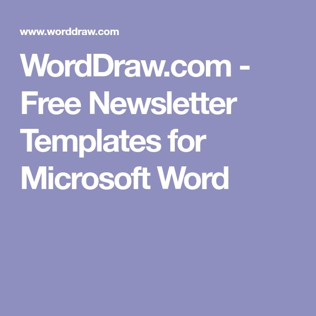 The 25+ best Newsletter templates ideas on Pinterest Newsletter - microsoft word templates newsletter
