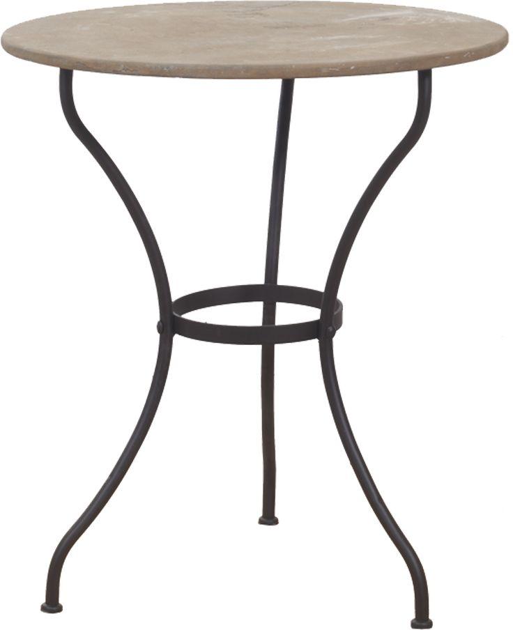 Vackert bord med underrede i järn och skiva i sten. Skapa en atmosfär som för tankarna till medelhavet med detta charmiga bord. Dess tidlösa elegans och robusta kvalitet gör att det passar precis lika bra i hemmet som i trädgården. Mått:Ø65 x H75 cm