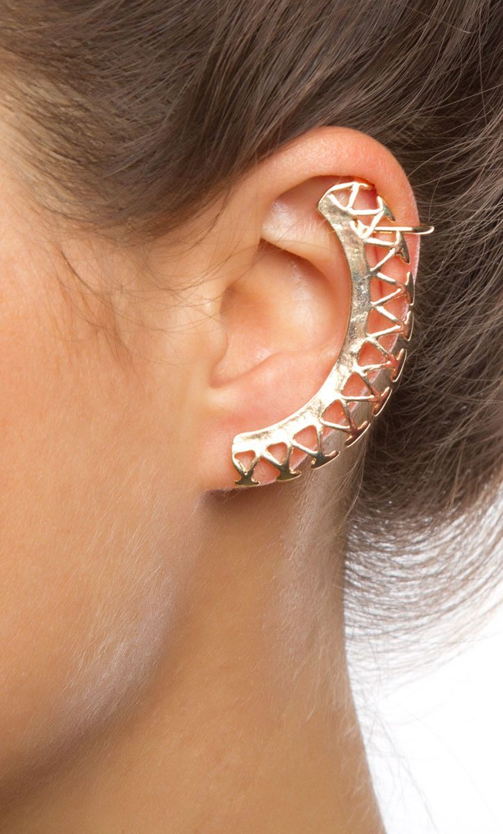 27 best ear cuff images on pinterest earrings ear cuffs and ears tribal ear cuff in gold baditri Choice Image