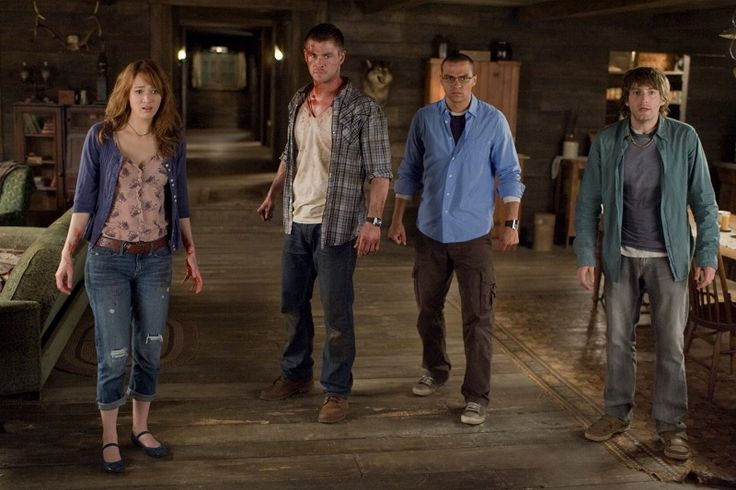 The Cabin in the Woods (2012)  Dir: Drew Goddard Stars: Kristen Connolly, Chris Hemsworth, Anna Hutchison, Fran Kranz  Five friends go for a break at a remote cabin in the woods, where they get more than they bargained for. Together, they must discover the truth behind the cabin in the woods.  Watch here: http://www.watchfree.to/watch-1e5735-The-Cabin-in-the-Woods-movie-online-free-putlocker.html