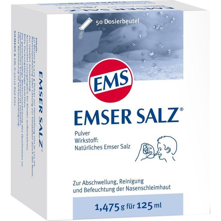 EMSER Salz 1,475 g Pulver:   Packungsinhalt: 50 St Pulver PZN: 06478033 Hersteller: SIEMENS & Co Preis: 10,59 EUR inkl. 19 % MwSt. zzgl.…