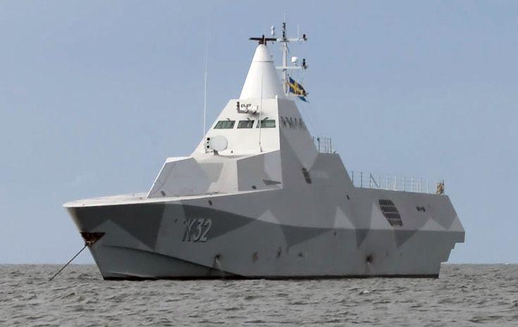 K32 HMS Helsingborg Anchored-of-Gotska-Sandoen cropped - Stealth technology - Wikipedia