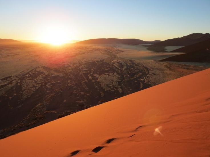 Sunrise at Dune 45 in Namibia