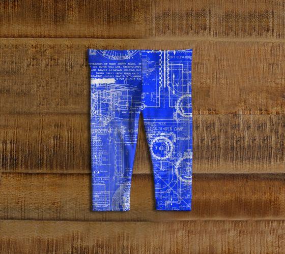 "#ArtOfWhere Baby+leggings+""Blueprints""+by+Marosée+Créations"