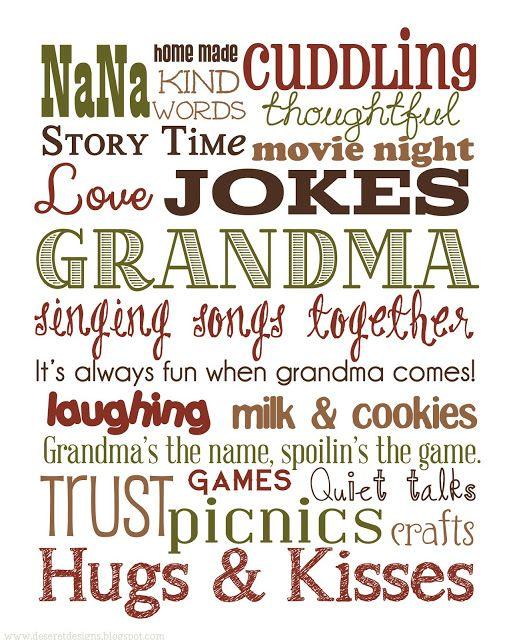 Deseret Designs: Grandma {Subway Art}