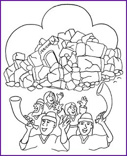 30 best images about joshua the battle of jericho on for Walls of jericho coloring page
