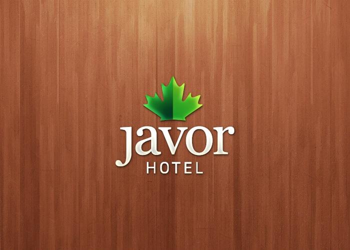 """Javor Hotel - Logo design for mountain resort """"Javor"""" (Javor means Maple)"""