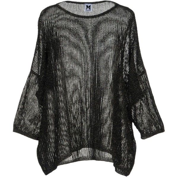 M Missoni Jumper ($170) ❤ liked on Polyvore featuring tops, sweaters, black, long sleeve jumper, long sleeve tops, metallic jumper, jumpers sweaters and metallic long sleeve top