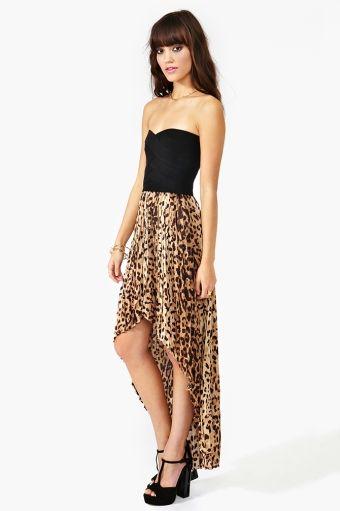 high low cheetah dress <3