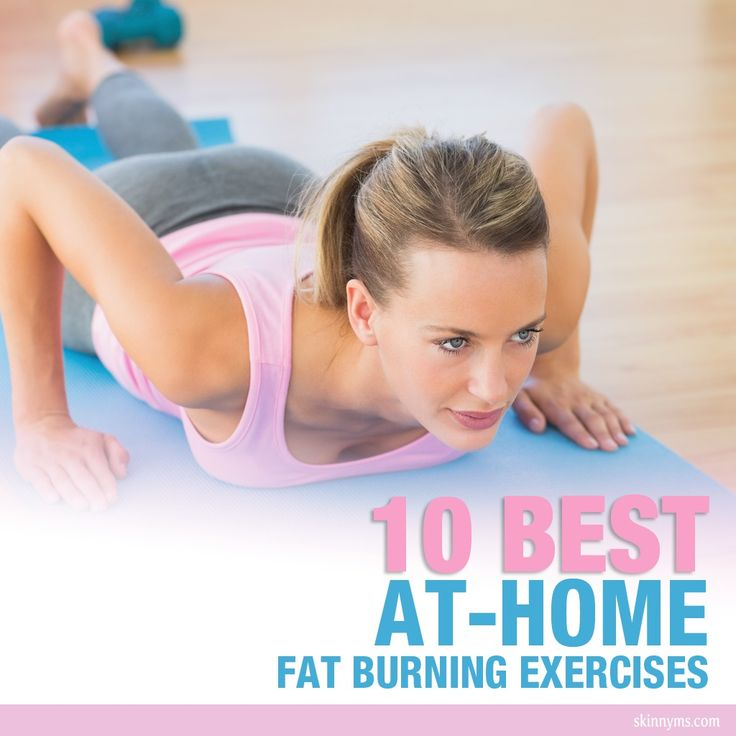10 Best At-Home Fat Burning Exercises--I love these when I don't have time for the gym! via @Skinny Ms.