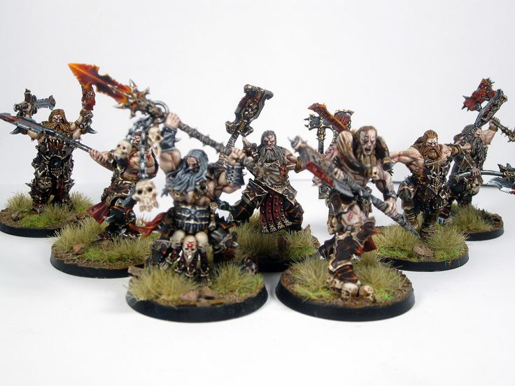 Khorne Bloodbound Skullreapers with Exalted Deathbringer and Slaughterpriest