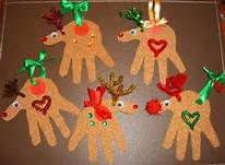 renos navidad hechos con la mano del nene