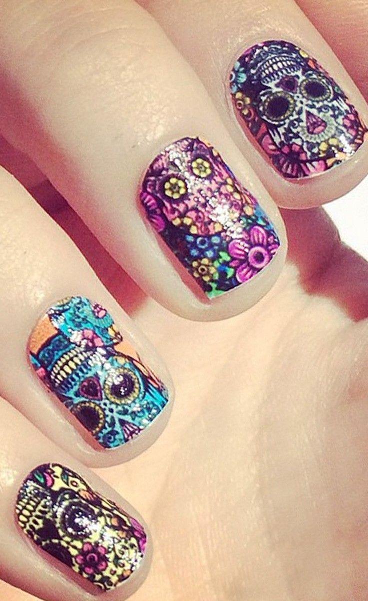 calaveras mexicanas para tu uñas
