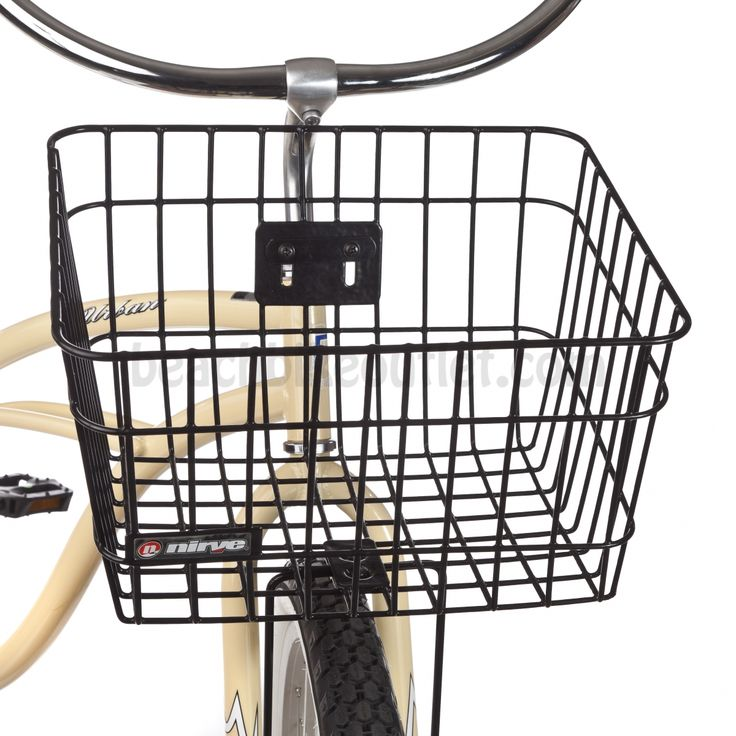 Nirve Wire Basket (Black) | Beach Bike Outlet