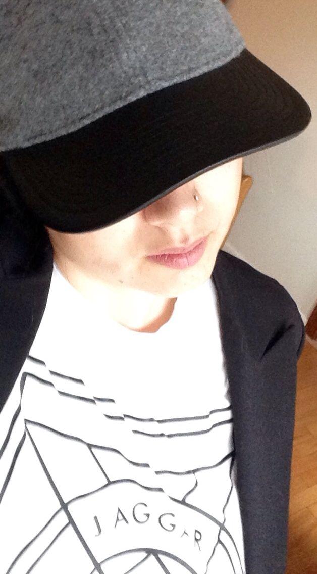 J Crew wool baseball cap and Jagger Label Tee