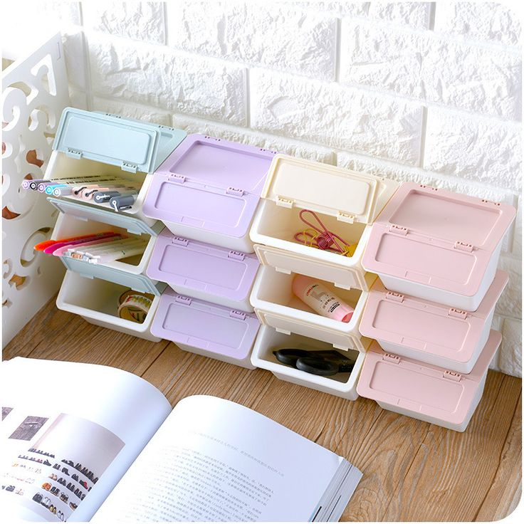 >> Click to Buy << Hot Selling Modern Glossy Candy makeup Container Plastic Storage box Multi-purpose cosmetics organizer office stationery casket #Affiliate
