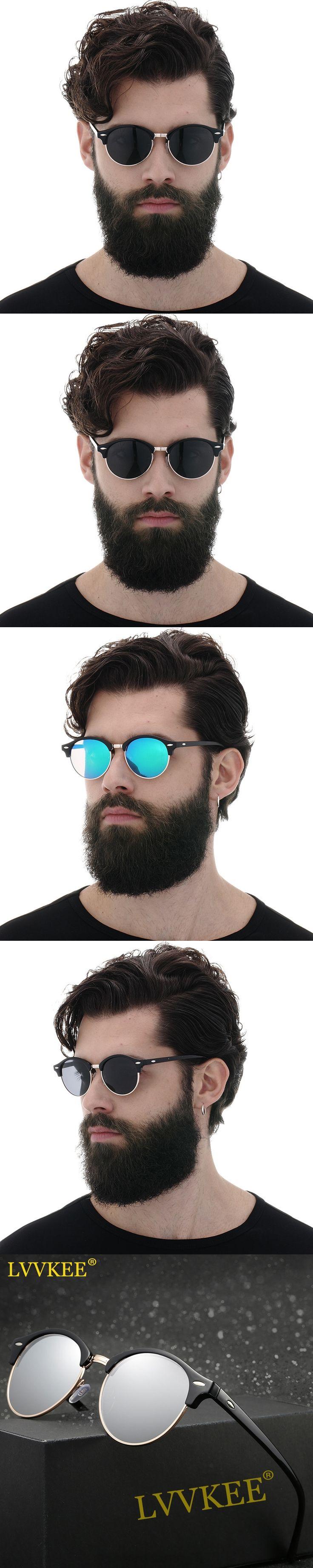 HOT 2017 The newest Polarized Round Sunglasses Women/Men Brand Designer Club Classic Sun glasses driving semi rimless glasses