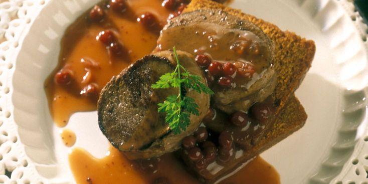 Filet de chevreuil, sauce au pain d'épices