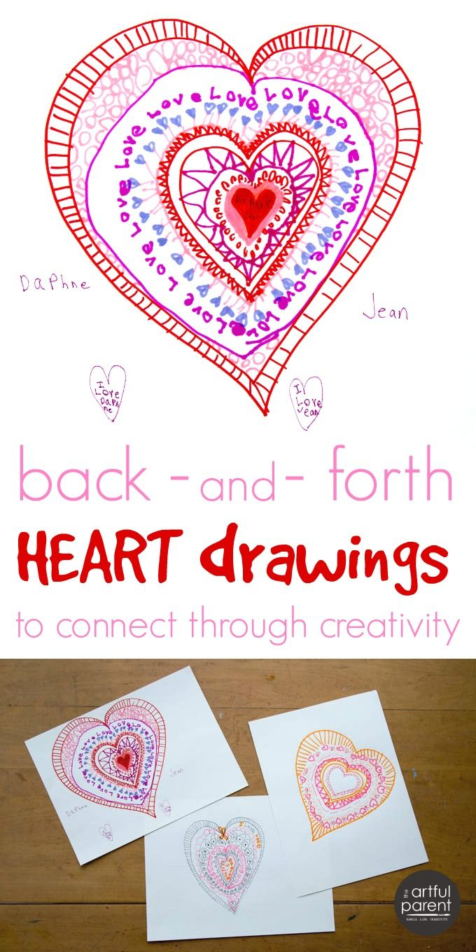 This interactive heart drawing activity is a fun way to celebrate love & connect through creativity. Take turns adding layers to the heart.