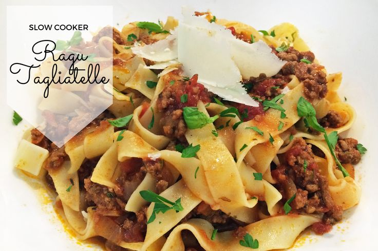 Slow Cooker Ragu Tagliatelle Recipe