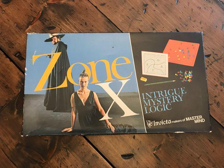 Vintage 1975, Zone X Board Game, Battleship, Spy Game
