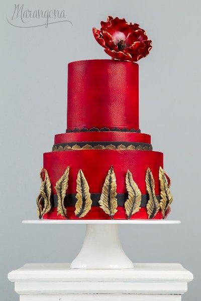 Zahira design cake by Marangona | sugarflowers | covered by fondant | www.marangona.hu