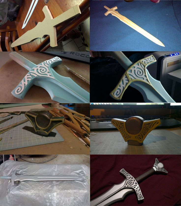 Skyrim Steel Sword WIP by TheAnti-Lily cosplay costume LARP weapon resource tool how to tutorial instructions | Create your own roleplaying game material w/ RPG Bard: www.rpgbard.com | Writing inspiration for Dungeons and Dragons DND D&D Pathfinder PFRPG Warhammer 40k Star Wars Shadowrun Call of Cthulhu Lord of the Rings LoTR + d20 fantasy science fiction scifi horror design | Not Trusty Sword art: click artwork for source