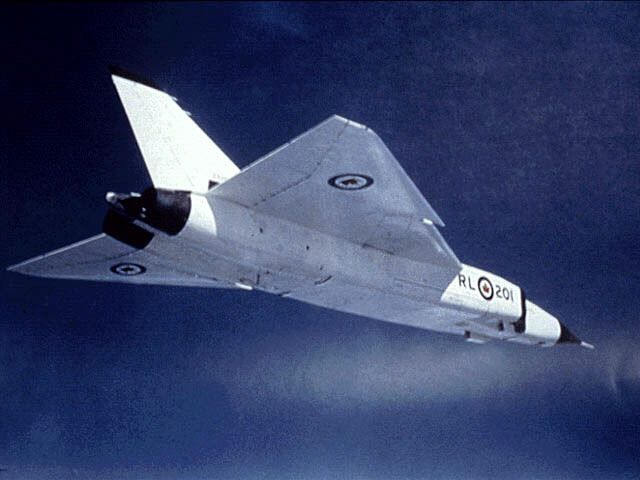The Avro Canada CF-105 Arrow was a delta-winged interceptor aircraft, designed & built by Avro Aircraft Limited in Malton, Ont, Canada, as a design study that began in 1953. The CF-105 held the promise of Mach 2 speeds at alt's exceeding 50,000 ft (15,000 m) & was intended to serve as the RCAF's primary interceptor in the 1960s & beyond. After the 1958 start of its flight test program, the development of the Arrow (including its Orenda Iroquois jet engines) was abruptly & controversially…