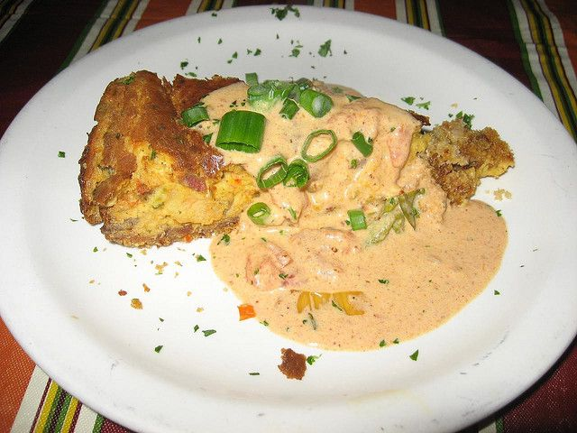 Alligator Sausage Cheesecake at Jacques-Imos in New Orleans... AMAZING ...