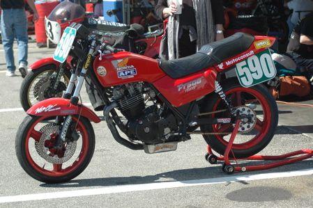 Honda FT500 Ascot running in AHRMA's Vintage Superbike Lightweight Class.  See: http://www.randakksblog.com/?p=3996
