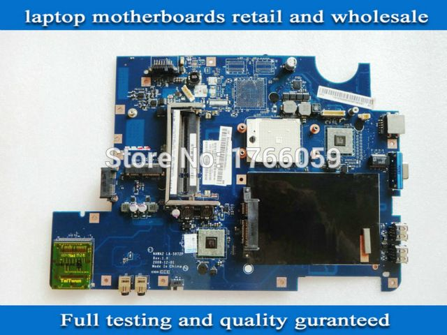 G555 motherboard for lenovo G555 laptop motherboard NAWA2 LA-5972P DDR2 100% tested working qulity goods US $67.50 /piece Specifics Products Status 	Stock,Used Chipset Manufacturer 	AMD With CPU 	No Ports 	VGA,USB 2.0,Ethernet,Wifi CPU Type 	AMD Memory Type 	DDR2 Application 	Laptop Hard Drive Interface 	sata Item Condition 	Used Model Number 	for lenovo G555 Brand Name 	Other rev: 	1.0 Part NO. 	NAWA2 LA-5972P Fully Tetsed: 	all functional   Click to Buy :http://goo.gl/f7KovS