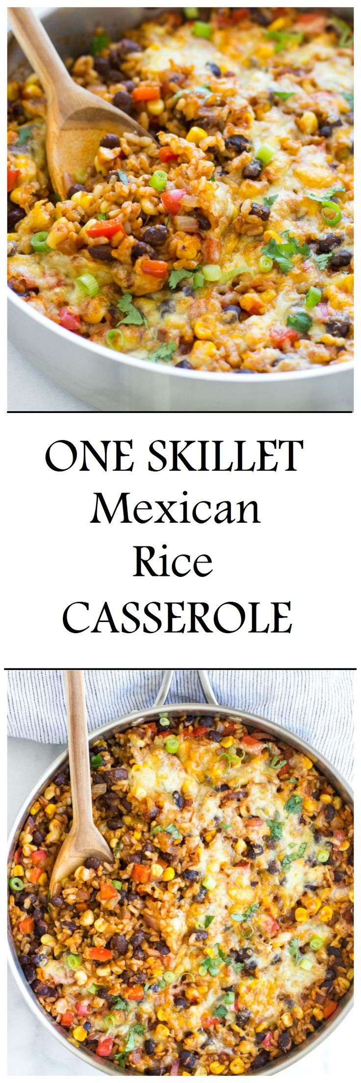 One Skillet Mexican Rice Casserole- ready in just 30 minutes! #vegetarian #meatless #glutenfree @planetrice