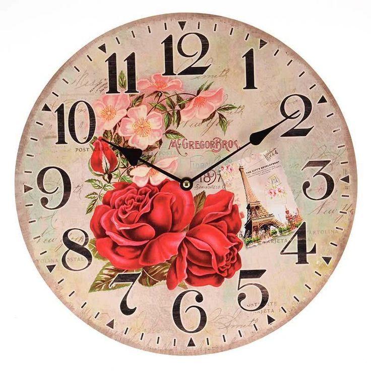 Beautiful #romantic #floral wall clock! www.inart.com