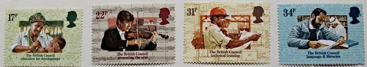 50th anniversary of British council stamps, Great Britain, SG ref: 1263-1266 MNH