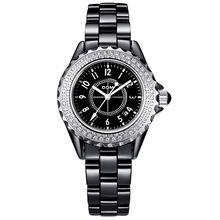 DOM Watch Woman Ceramic Quartz Watches Luxury Top Brand Woman 2016 Waterproof Dress Clock Wristwatches free shipping T-598(China (Mainland))