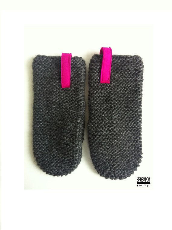 Knitted mittens by bazzooka on Etsy, $30.00