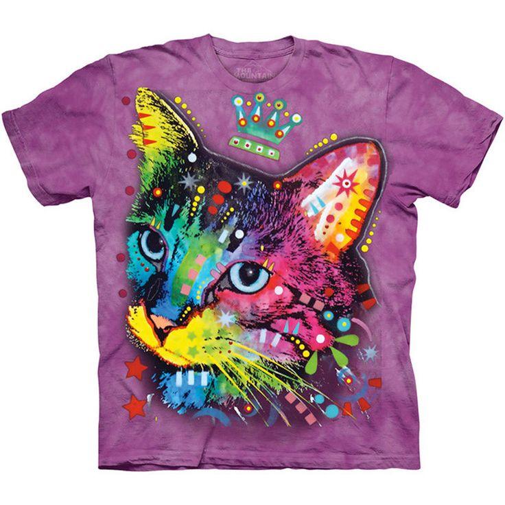 Crown Kitten T-Shirt The Mountain Cat Face Dean Russo Art Cute Kitty Tee NEW