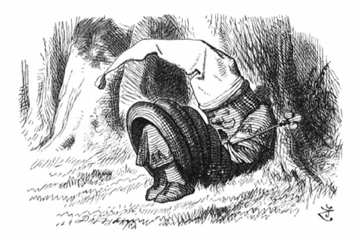 Red King sleeping - Chess - Through the Looking-Glass: the Red King is snoring. Illustration by John Tenniel