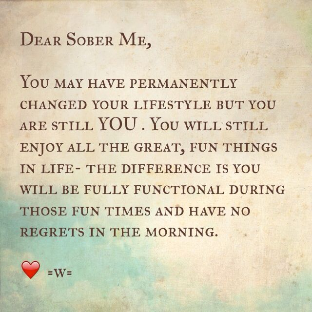 #sober -I have to remind myself this daily