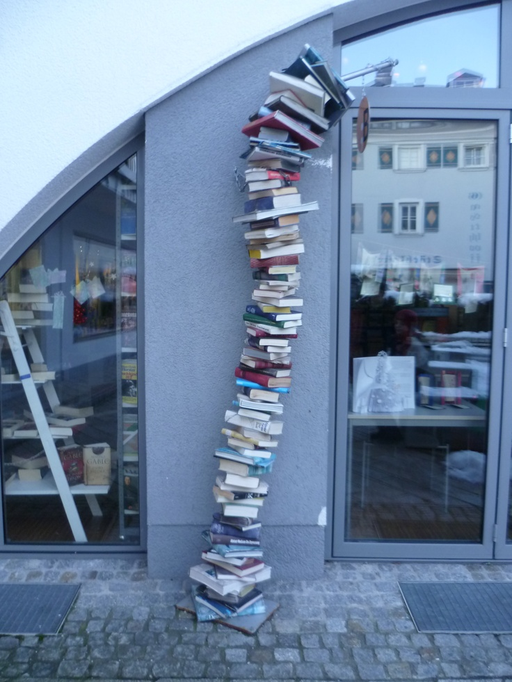 In front of a library in Radstadt (Ausztria).