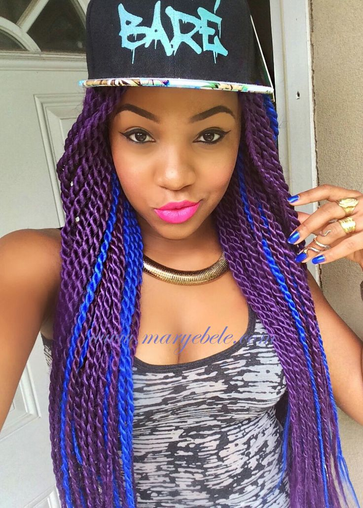 17 Best ideas about Purple Box Braids on Pinterest