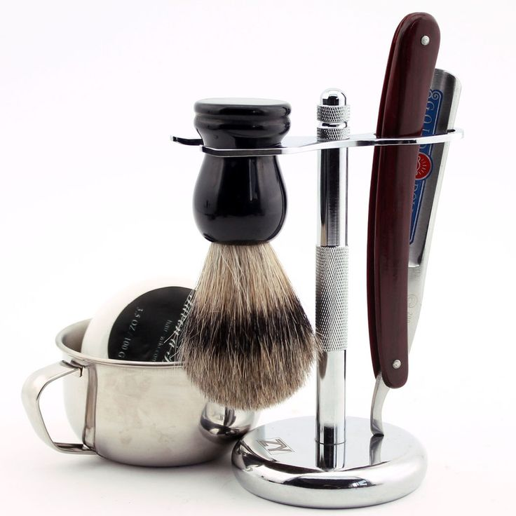 31.72$  Buy here - http://ali6eg.shopchina.info/1/go.php?t=32568971806 - Straight Razor Folding Knife Gold Dollar 200 Alloy Stand Pure Badger Brush Bowl W/ Shank Soap Barber Shave Tool  #magazineonline