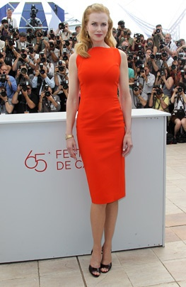 "Nicole Kidman - Antonio Berardi .  Nicole Kidman arrives for the photocall of ""The Paperboy"" wearing an orange Antonio Berardi dress at the 65th Cannes film festival on May 24, 2012, in #Cannes."