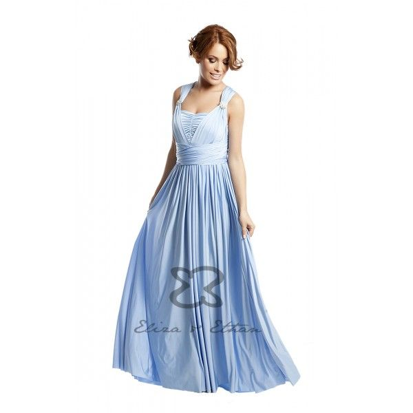 Eliza And Ethan Baby Blue - LADIDA Boutique baby blue bridesmaid ...