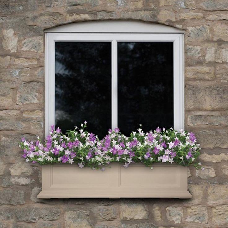 Mayne 60-Inch Rectangle Fairfield Window Box with Optional Mounting Brackets