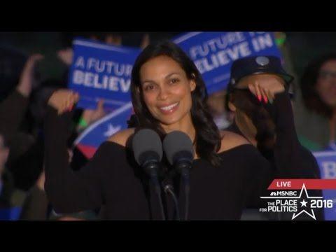 SIMPLY AMAZING: Bernie Sanders, Spike Lee & Rosario Dawson Rally in Sout...