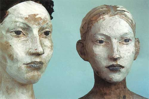 Figurative sculptor Egon Tania's exquisitely crafted works normally comprise complete or partial life-size figures carved in wood. Combining both scrap and fresh wood, the carefully pigmented and finished figures prove very arresting.