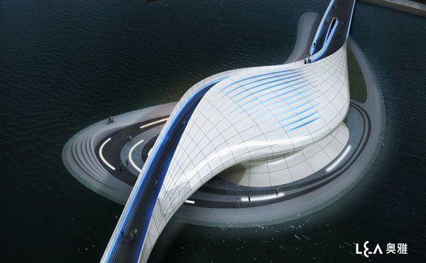 Puente Peatonal Wuxi Xidong / L&A Design Group,©  L&A Design Group
